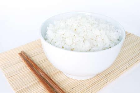 basmati rice: cooked white basmati rice  bowl natural food