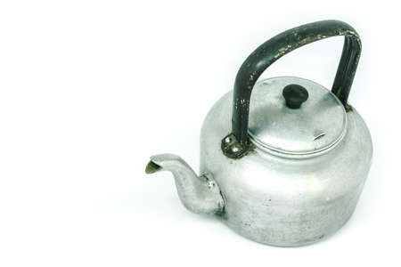 stovetop: kettle tea on white background