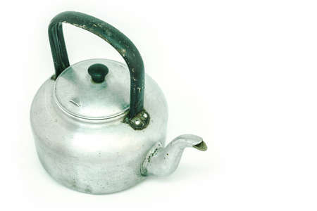 teakettle: kettle tea on white background