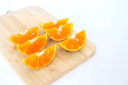 orange slice: orange slice fruit fresh on white background