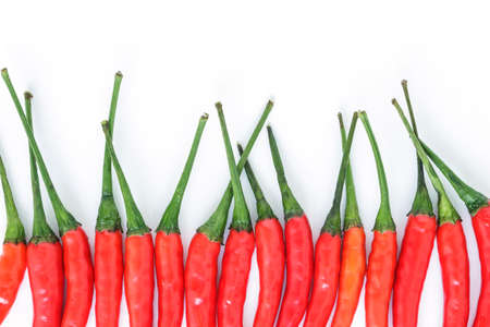 chili pepper red spicy vegetable on white background