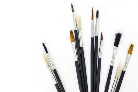 paint tool: paint brush set tool art  on white background
