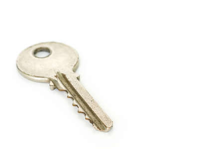 key silver safety security house home on white background