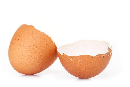 egg shell broken crack food on white background Reklamní fotografie