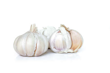 garlic vegetable ingredient on white background