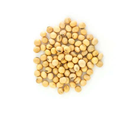 Pila de haba de soja planta de semillas de alimentos vegetales saludables fondo de naturaleza Foto de archivo - 68023900
