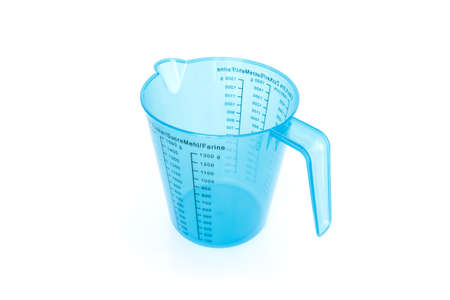 measuring cup: measuring cup empty on white background Stock Photo