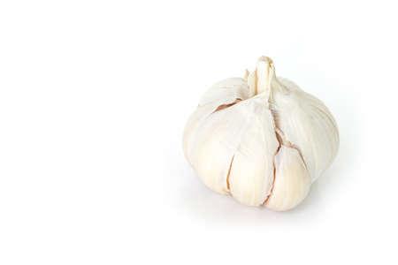 spiciness: garlic vegetable ingredient on white background
