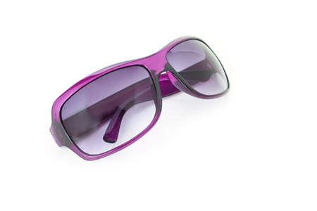 purple sunglasses on white background Stock Photo
