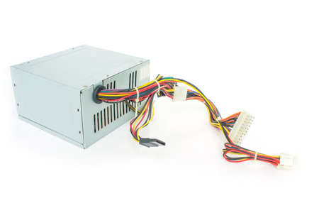Computer Power Supply Unit On White Background