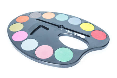 paint tray on white background.