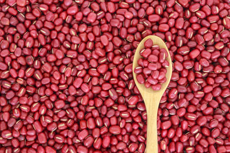 red bean seed top view food background Stock Photo