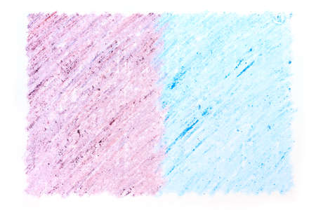 blue and purple crayon drawings on white paper background texture