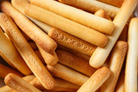 bread sticks top view full background. Reklamní fotografie
