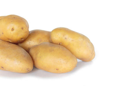 potato on white background.