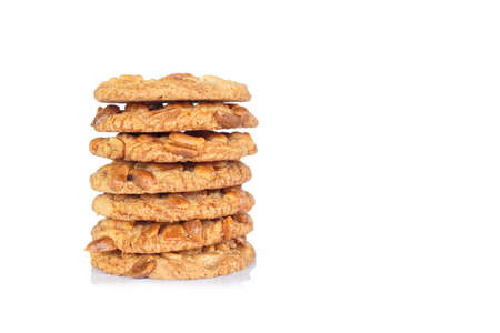 pile peanut cookies on white background. 版權商用圖片