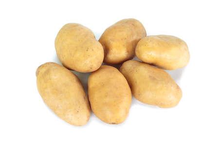 patata su sfondo bianco. Archivio Fotografico