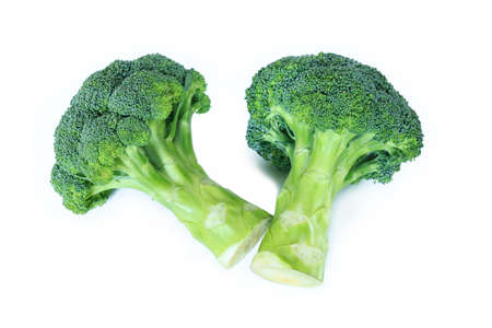 Broccoli on white background. Stok Fotoğraf