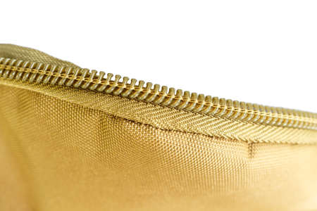 zipper bag color khaki texture.