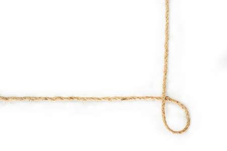 rope border on white background.