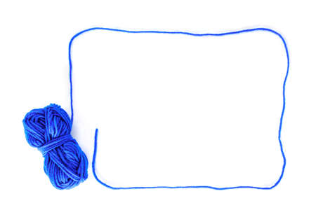 border yarn color blue on white background.