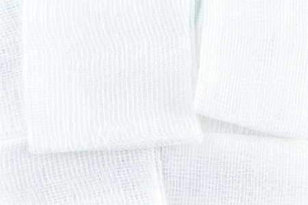 gauze pads on white background. Imagens