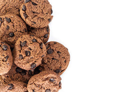 cookie chocolate on white background. Stockfoto