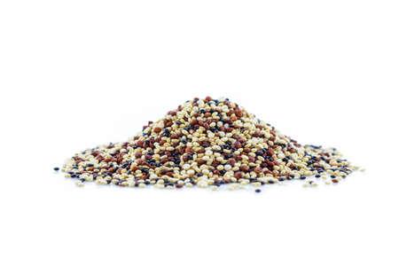 pile quinoa on white background. 写真素材