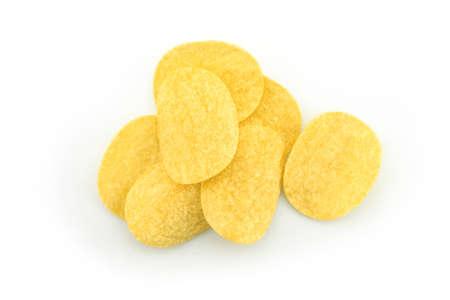 potato chips on white background. Stock Photo - 145473959