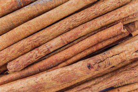 heap cinnamon close up texture. Reklamní fotografie
