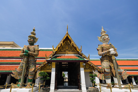 pra: Giants in Grand palace and Wat Pra Keaw, Bangkok, Thailand Stock Photo