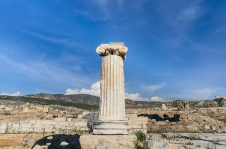 pamukkale: Ancient city of Hierapolis, Pamukkale, Turkey Stock Photo