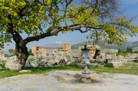 hierapolis: Ancient city of Hierapolis, Pamukkale, Turkey Stock Photo