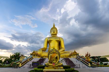 The Biggest Buddha statue at Wat Muang Ang thong temple in Thailand
