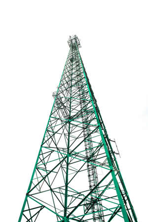 isolated telephone tower Stock Photo