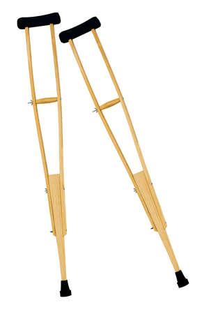 isolated axillary crutches on white background Stock Photo - 109274541