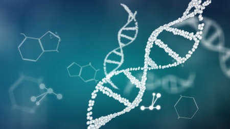 structure of the DNA double helix animation, DNA molecular and biologigical footage concept