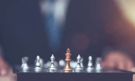 golden kings chess with winner action and leadership