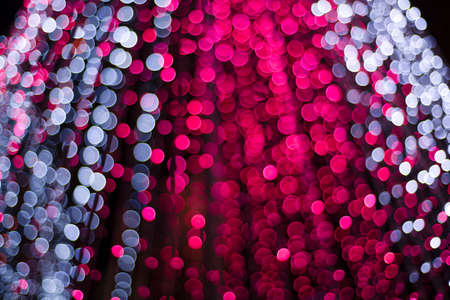 beautiful light bokeh in new year festival