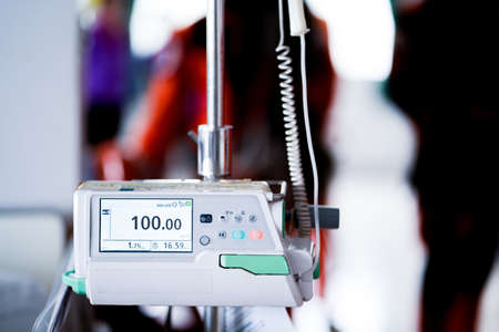 medication infusion pump in hospital ward