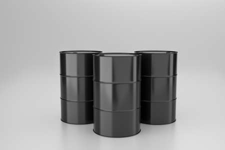 black fuel tank on white background, 3d illustration rendering Фото со стока
