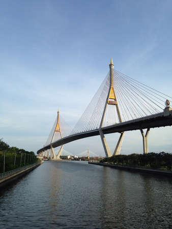 bhumibol: Bhumibol bridge in Bangkok city