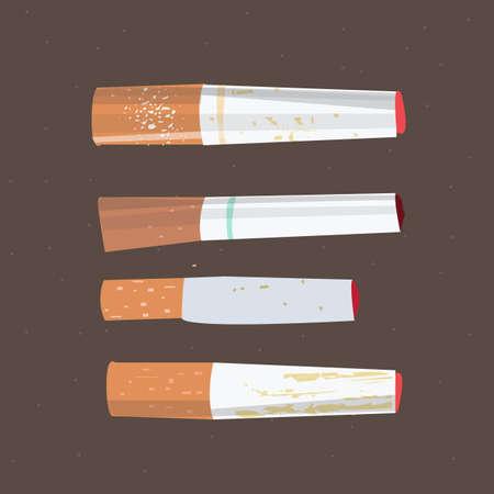 ashes: Cigarette - vector illustration Stock Photo