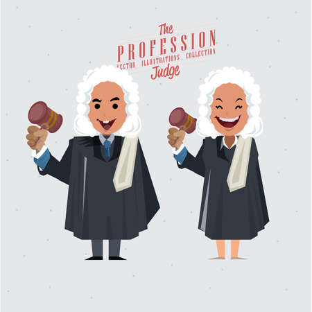 Judge - vector illustration