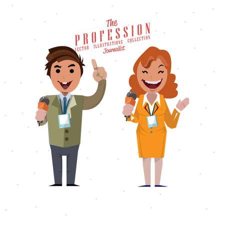anchorman: Journalist - vector Illustration