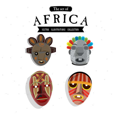 african mask: African mask - vector illustration Illustration