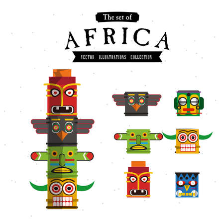 African Totem - vector illustration