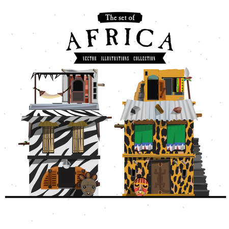 south african: African house style - vector illustration