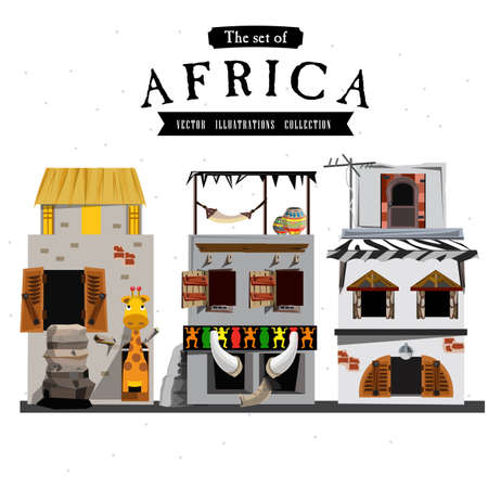 house with style: African house style - vector illustration