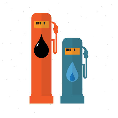 usage: Usage of Gas and Oil - vector illustration